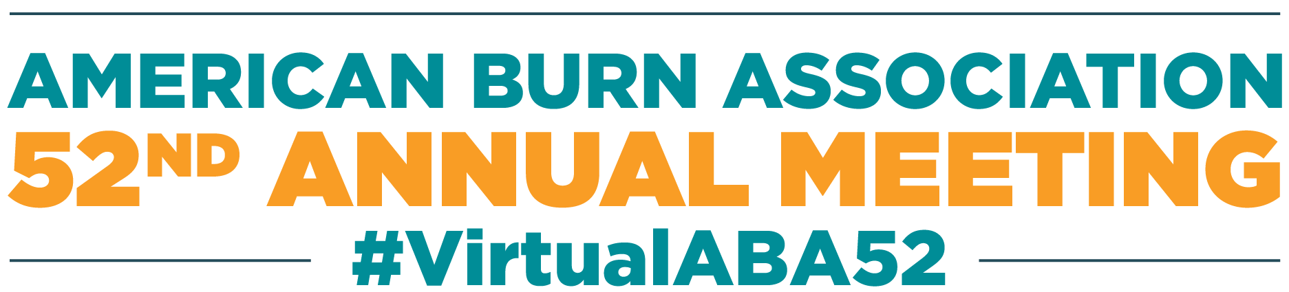Logo reading American Burn Association 52nd Annual Meeting #VirtualABA52